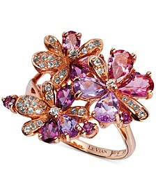Multi-Stone Flower Ring in 14k Rose Gold (2-3/4 ct. t.w.)