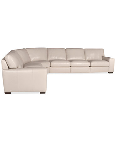 Fabrizio Leather 6 Piece Sectional Sofa Furniture Macy 39 S