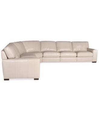 Fabrizio Leather 6-Piece Sectional Sofa  sc 1 st  Macyu0027s : 6 piece leather sectional sofa - Sectionals, Sofas & Couches