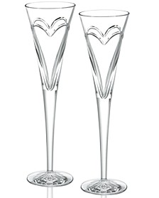Stemware Love & Romance Toasting Flutes, Set of 2