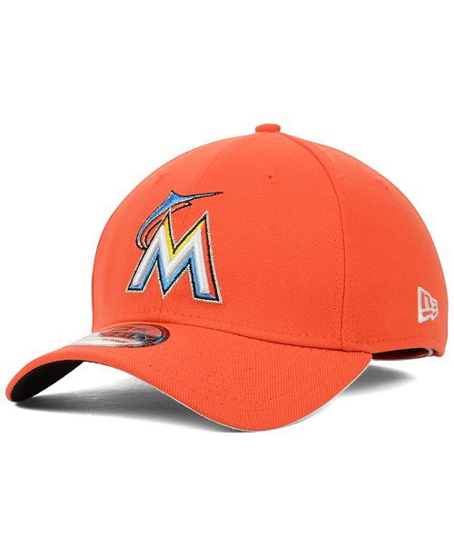 official photos 5f4ab e6e85 ... New Era Miami Marlins MLB Team Classic 39THIRTY Stretch-Fitted Cap ...