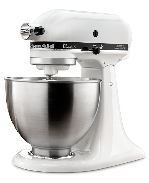 KitchenAid KSM75WH Classic Plus 4.5-Quart Tilt Head Stand ...
