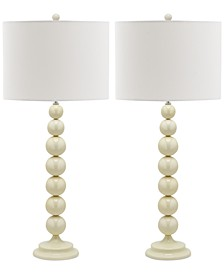 Set of 2 Jenna Stacked Ball Table Lamps