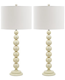 Safavieh Set of 2 Jenna Stacked Ball Table Lamps