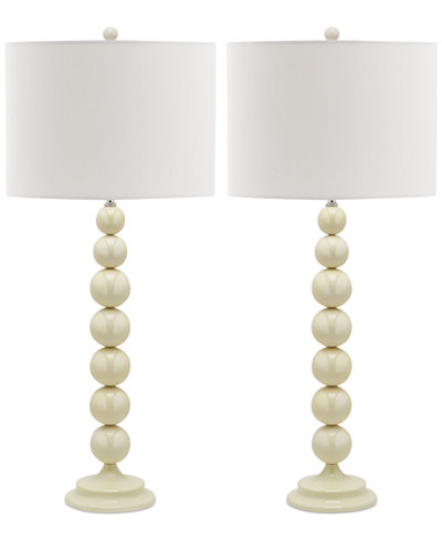 Safavieh set of 2 jenna stacked ball table lamps lighting lamps safavieh set of 2 jenna stacked ball table lamps aloadofball Gallery