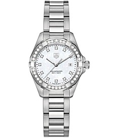 Women's Swiss Aquaracer Diamond (9/20 ct. t.w.) Stainless Steel Bracelet Watch 27mm WAY1414.BA0920