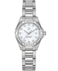 TAG Heuer Women's Swiss Aquaracer Diamond (9/20 ct. t.w.) Stainless Steel Bracelet Watch 27mm WAY1414.BA0920