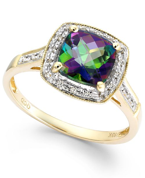 Macy's Mystic Topaz (1-5/8 ct. t.w.) and Diamond Accent Ring in 10k Gold