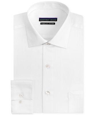 Geoffrey Beene Men's Classic-Fit Wrinkle Free Sateen Dress Shirt ...