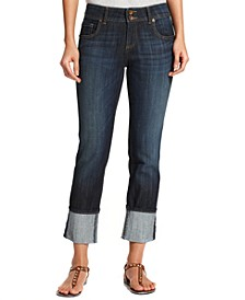 Cameron Cuffed Straight-Leg Ankle Jeans