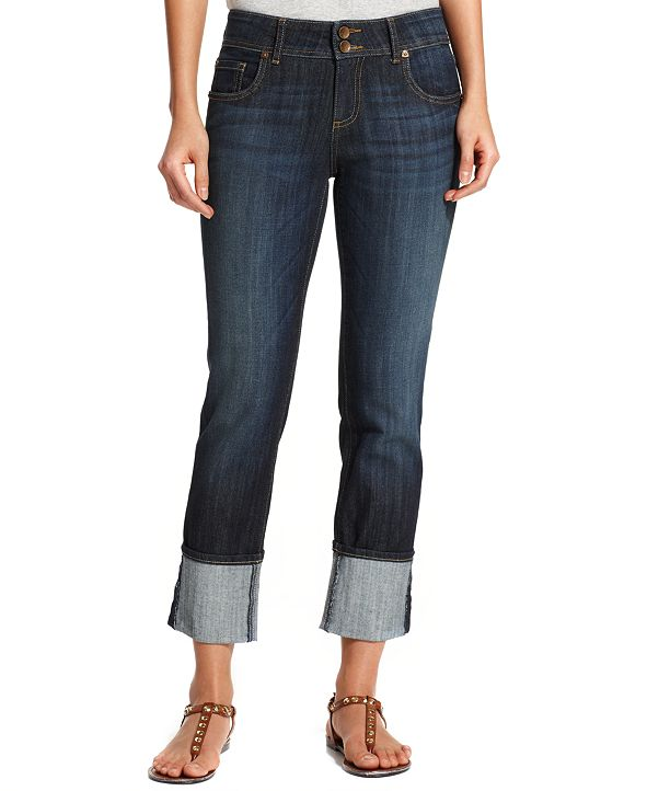Kut from the Kloth Cameron Cuffed Straight-Leg Ankle Jeans
