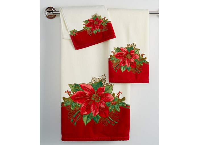 Poinsettia Bathroom Towels. Poinsettia Bathroom Towels   Christmas Wikii