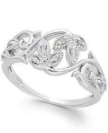 Diamond Vine Ring in Sterling Silver (1/10 ct. t.w.)