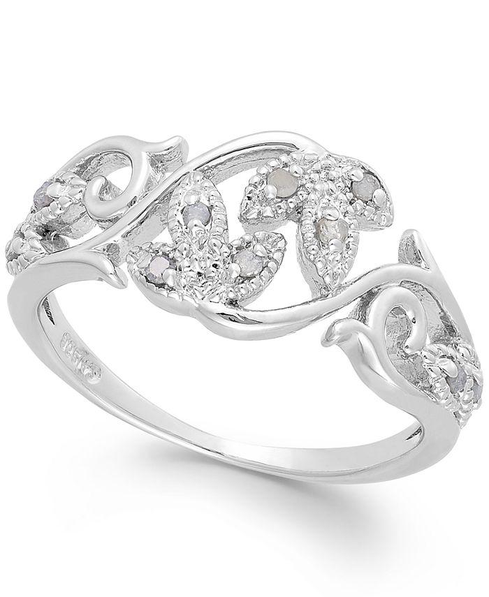 Macy's - Diamond Vine Ring in Sterling Silver (1/10 ct. t.w.)