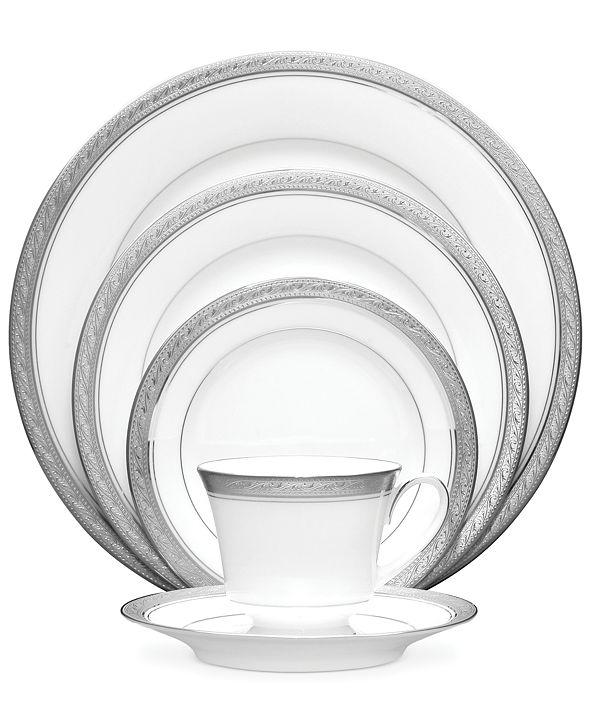 Noritake Dinnerware, Crestwood Platinum 5 Piece Place Setting