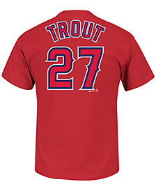 Majestic Men's Mike Trout Los Angeles Angels of Anaheim Official Player T-Shirt