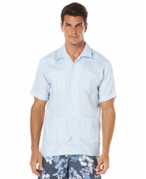 1930s Style Mens Shirts Cubavera Guayabera Linen Shirt $59.99 AT vintagedancer.com