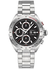 Men's Swiss Automatic Chronograph Formula 1 Calibre 16 Stainless Steel Bracelet Watch 44mm