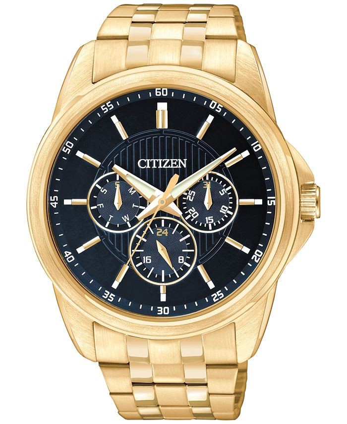 Citizen - Men's Gold-Tone Stainless Steel Bracelet Watch 42mm AG8342-52L