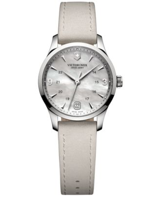 Victorinox Swiss Army Women's Alliance Gray Suede Leather Strap Watch 30mm 241662