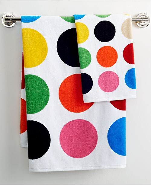 """French Bull Multicolor Dot Printed 16"""" x 28"""" Hand Towel"""