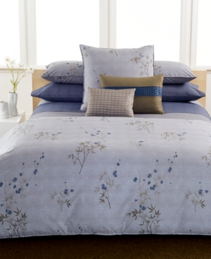 Calvin Klein Bamboo Flowers Queen Flat Sheet Bedding