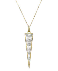 wrapped™ Diamond Triangle Pendant Necklace in 10k Gold (1/6 ct. t.w.), Created for Macy's