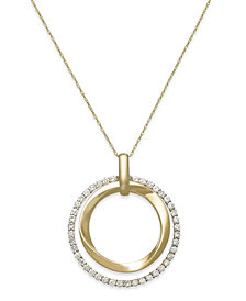 Le Vian Diamond Circle Pendant Necklace in 14k Gold (7/8 ct. t.w.)