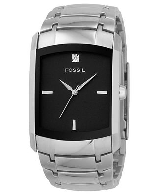 fossil watch men s diamond accent stainless steel bracelet fs4156 fossil watch men s diamond accent stainless steel bracelet fs4156