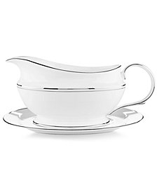 Lenox Federal Platinum Gravy Boat and Stand