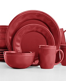 Cucina Cranberry Red 16-Pc. Set, Service for 4