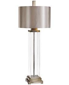 Drustan Clear Glass Table Lamp