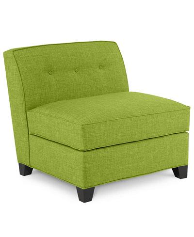 Harper Fabric Armless Living Room Chair Custom Colors Created For Macys