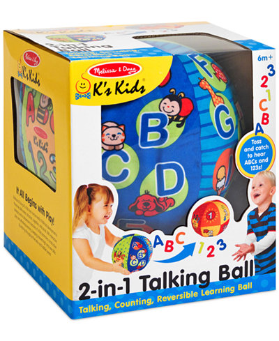 Melissa and Doug Kids' 2-in-1 Talking Ball