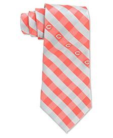 Cincinnati Reds Checked Tie