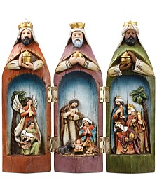 Three Kings Figure with Holy Family Scene