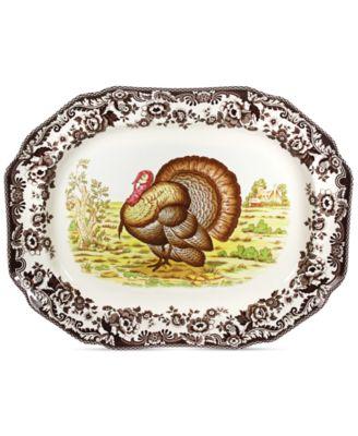 Woodland Turkey Octogonal Platter