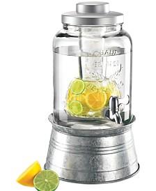 Artland Masonware Galvanized Tin and Glass 2-Gallon Beverage Dispenser