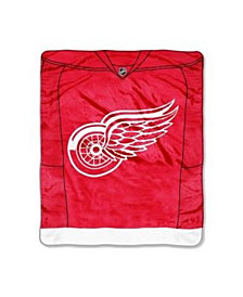 Northwest Company Detroit Red Wings Plush Jersey Throw Blanket