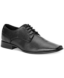 Calvin Klein Men's Brodie Epi Textured Leather Oxfords