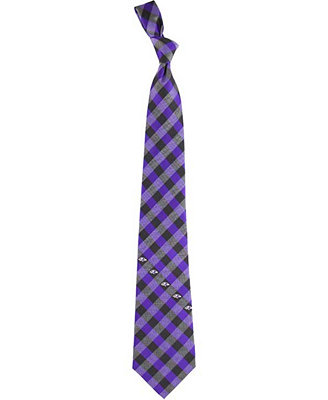 Baltimore Ravens Checked Tie by General