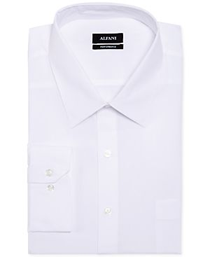 Alfani Big and Tall Solid Performance Dress Shirt