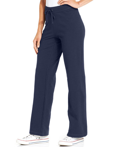 Style & Co Petite French-Terry Drawstring Pants, Created for Macy's