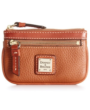 Image of Dooney & Bourke Pebble Leather Coin Case