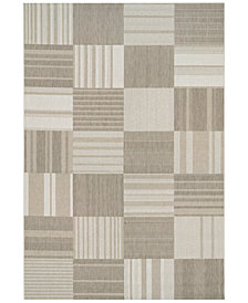 "Couristan Indoor/Outdoor Afuera 5038/6031 Patchwork 5'3"" x 7'6"" Area Rug"