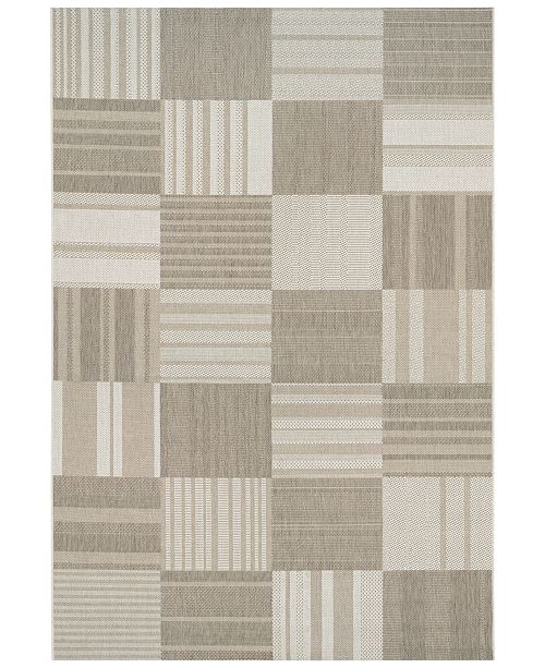 "Couristan CLOSEOUT! Indoor/Outdoor Afuera 5038/6031 Patchwork 2'2"" x 7'10"" Runner Rug"