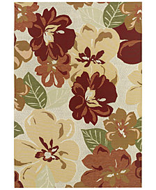 "Couristan Indoor/Outdoor Runner Rug, Dolce 4055/0632 Novella Rosebud 2'3"" x 7'10"""