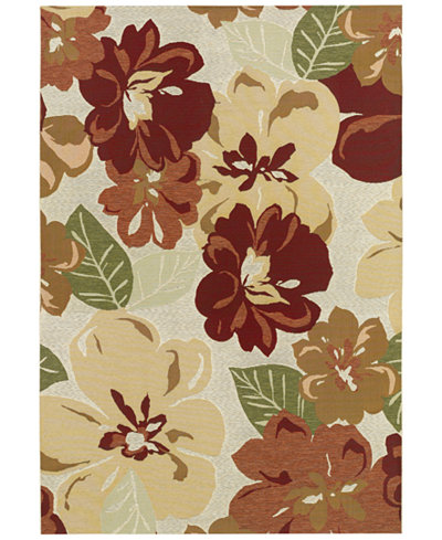 Couristan Indoor/Outdoor Area Rug, Dolce 4055/0632 Novella Rosebud 5'3