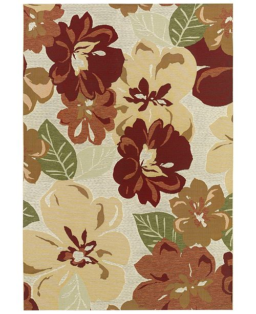 Couristan Indoor Outdoor Area Rugs Dolce 4055 0632 Novella Rosebud
