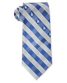 Los Angeles Dodgers Checked Tie